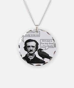 I'm Just A Poe Boy - Bohemia Necklace Circle Charm