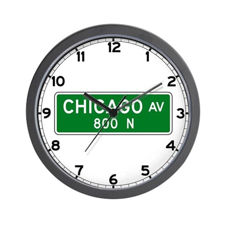 Chicago Ave., Chicago (US) Wall Clock