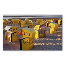 BEACH CHAIRS, NORTH SEA, GERMA Decal