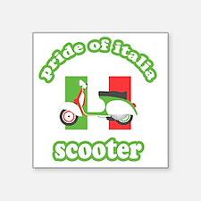 """VESPA PRIDE OF ITALIA Square Sticker 3"""" x 3"""""""