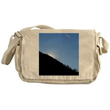 AIRPLANE OVER ALPS, ITALY Messenger Bag