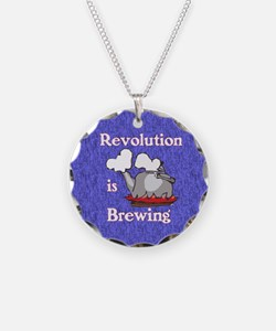 Revolution is Brewing (Blue  Necklace