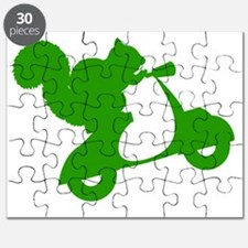 Green Squirrel on Scooter Puzzle