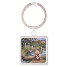 Deep South Honey Child Square Keychain