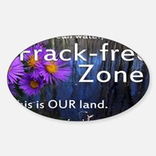 Frackfree Zone yard sign for clean  Decal