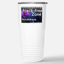 Frackfree Zone yard sign for cl Travel Mug
