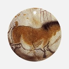 Lascaux Hose Painting Round Ornament