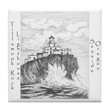 Tillamook Rock Lighthouse Tile Coaster
