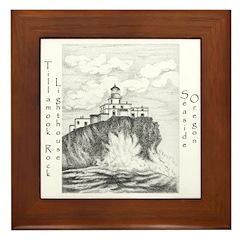 Tillamook Rock Lighthouse Framed Tile