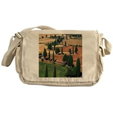 WINDING ROAD ON HILL, TUSCANY, ITALY Messenger Bag