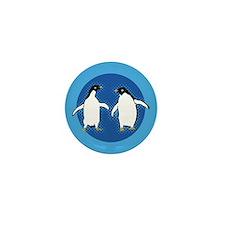 Dancing Penguins Mini Button