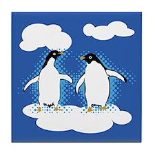 Dancing Penguins Tile Coaster