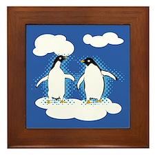 Dancing Penguins Framed Tile