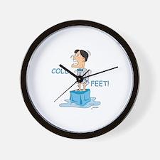 Cold Feet! Wall Clock