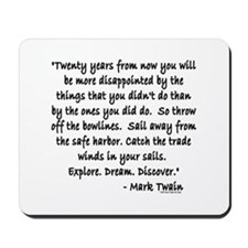 Mark Twain Mousepad