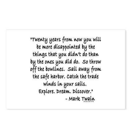Mark Twain Postcards (Package of 8)