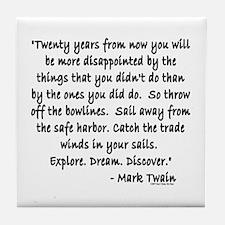 Mark Twain Tile Coaster