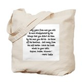 Mark twain Canvas Totes
