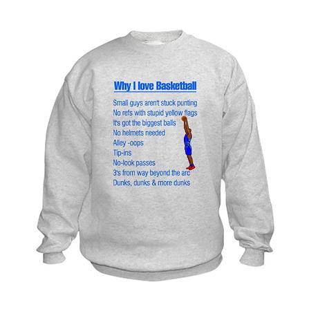 Why I Love Basketball Kids Sweatshirt
