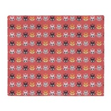 Amsterdam Coral Flower Pillow Throw Blanket