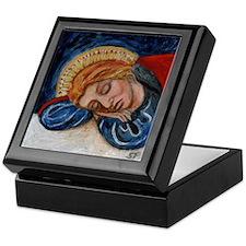 Mary Magdalene Tile Top Keepsake Box