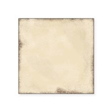 "Aged Cream Pillow Square Sticker 3"" x 3"""