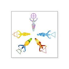 """Goddess Elements Square Sticker 3"""" x 3"""""""