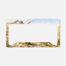 Attack on a Wagon Train, 1902 License Plate Holder