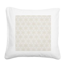 Creme Ornaments Pillow Square Canvas Pillow