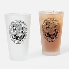 North Carolina State Seal Drinking Glass