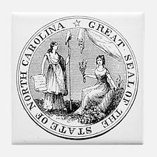 North Carolina State Seal Tile Coaster