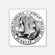 "North Carolina State Seal Square Sticker 3"" x 3"""