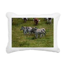 GROUP OF ZEBRAS 3 Rectangular Canvas Pillow