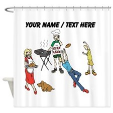 Custom Family Cookout Shower Curtain