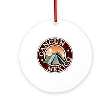Cancun Round Ornament
