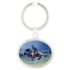The Stampede, 1908 Oval Keychain
