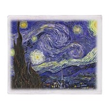 Vincent van Gogh, Starry Night. Throw Blanket