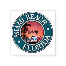 """Miami Beach, FL Square Sticker 3"""" x 3"""""""