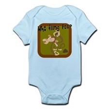 Who Flung Poo? Infant Bodysuit