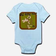 Who Flung Poo? Infant Bodysuit