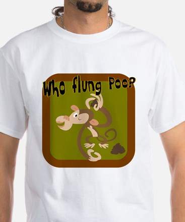 Who Flung Poo? White T-Shirt