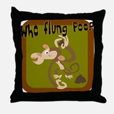 Who Flung Poo? Throw Pillow