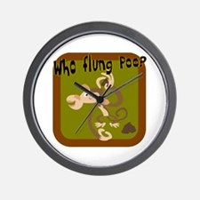 Who Flung Poo? Wall Clock