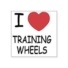 "I heart training wheels Square Sticker 3"" x 3"""