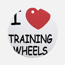 I heart training wheels Round Ornament