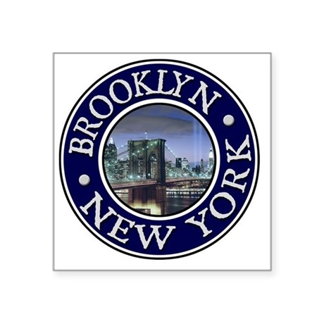 "Brooklyn, NY Square Sticker 3"" x 3"""