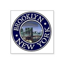 "Brooklyn, NY Square Sticker 3"" x 3"""