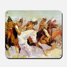 White Otter Led the Charge, detail, 1906 Mousepad