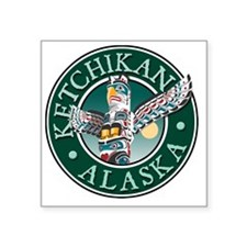 "Ketchikan, AK Square Sticker 3"" x 3"""