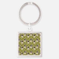Pug 1 (11) Square Keychain